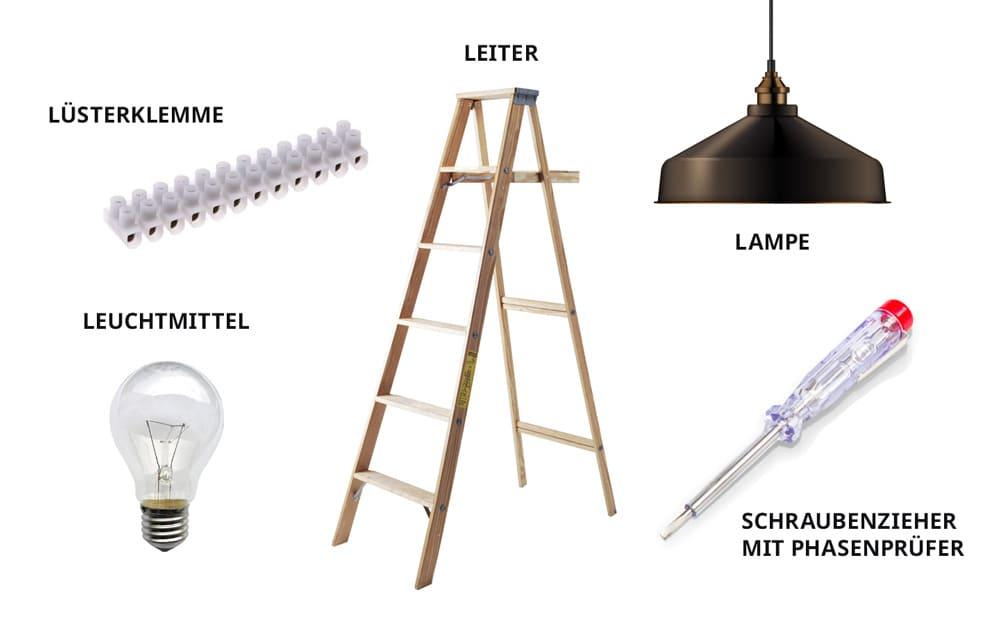 Lampe montieren - die richtigen Werkzeuge