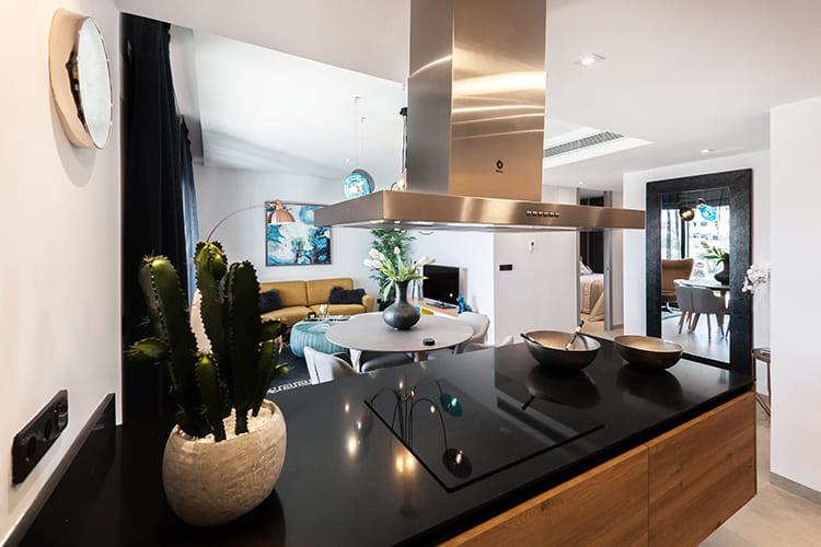 Moderne Küche sauber