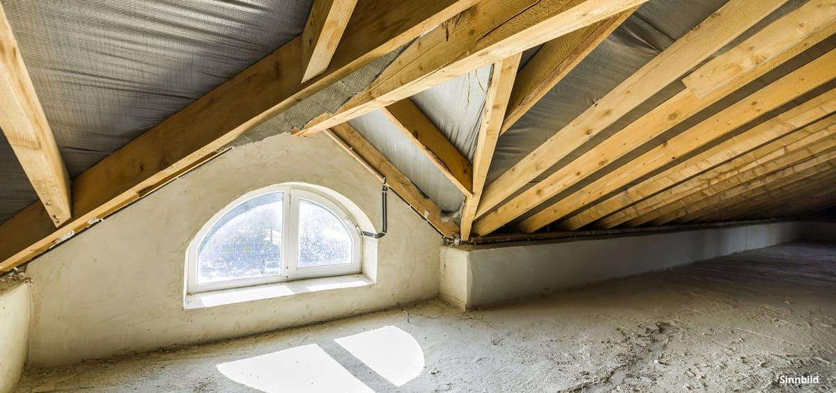 Dachstock isolieren - alter Dachstock