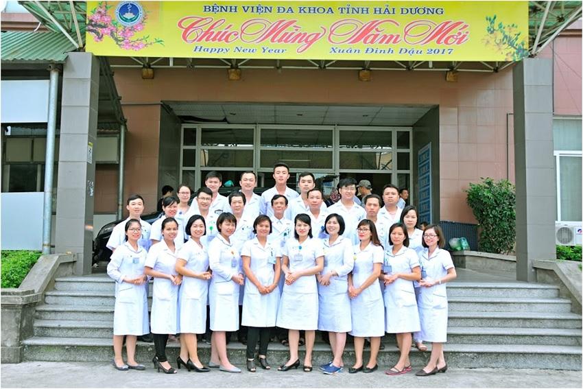 Đội ngũ bác sĩ tại bệnh viện đa khoa tỉnh Hải Dương