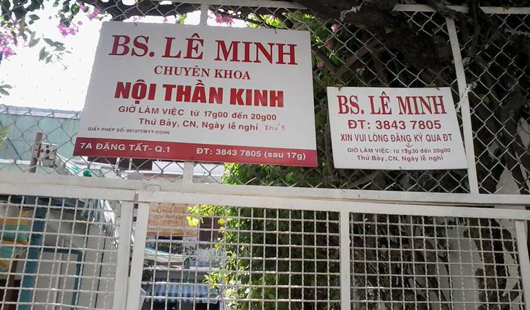Thông tin Bác sĩ Lê Minh - phòng khám nội thần kinh BS Lê Minh