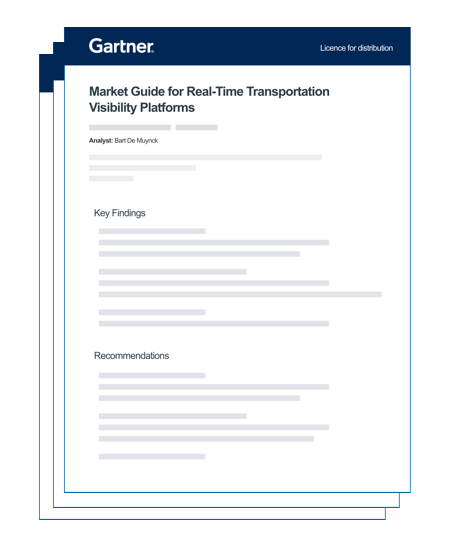 Gartner 2020 Market Guide For Real-Time Transportation Visibility Platforms