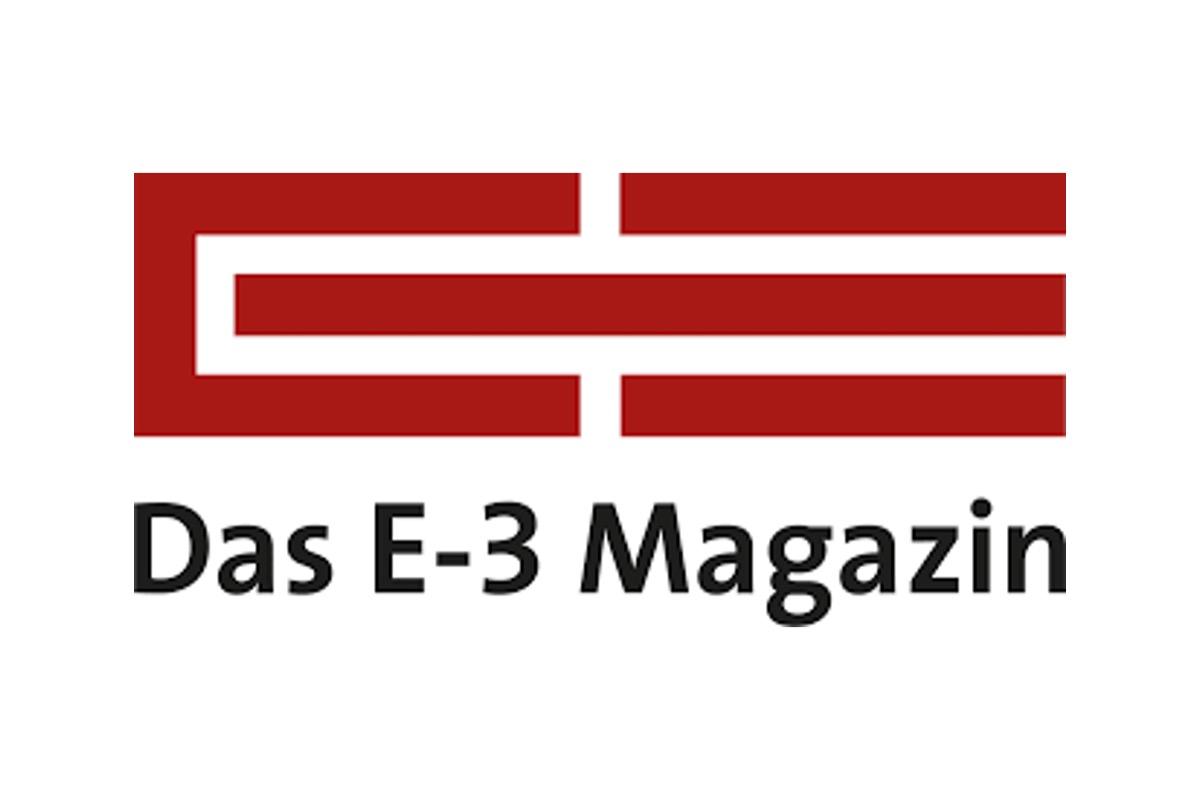 DAS E-3 MAGAZIN logo