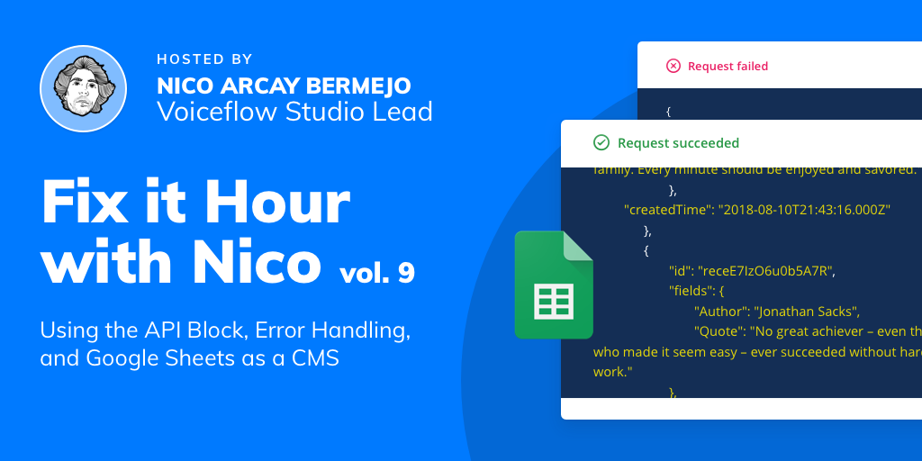 Fix It Hour with Nico – API Block, Error Handling, and Using Google Sheets as a CMS