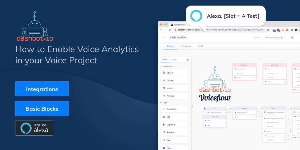 How to Enable Voice Analytics with Dashbot & Voiceflow