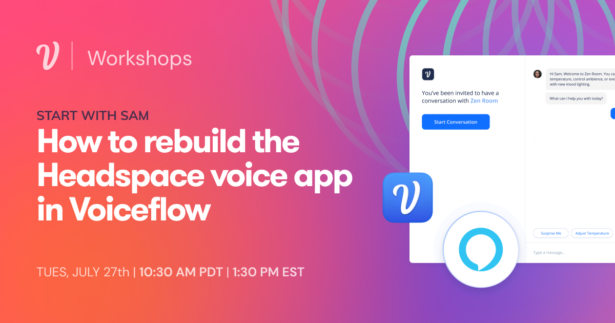 How to build the Headspace voice app in Voiceflow