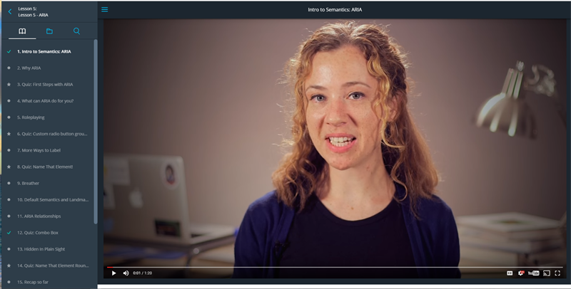 Video Still of Web Accessibility Course