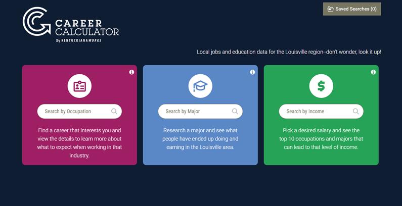 Screen grab: Career Calculator by KentuckianaWorks