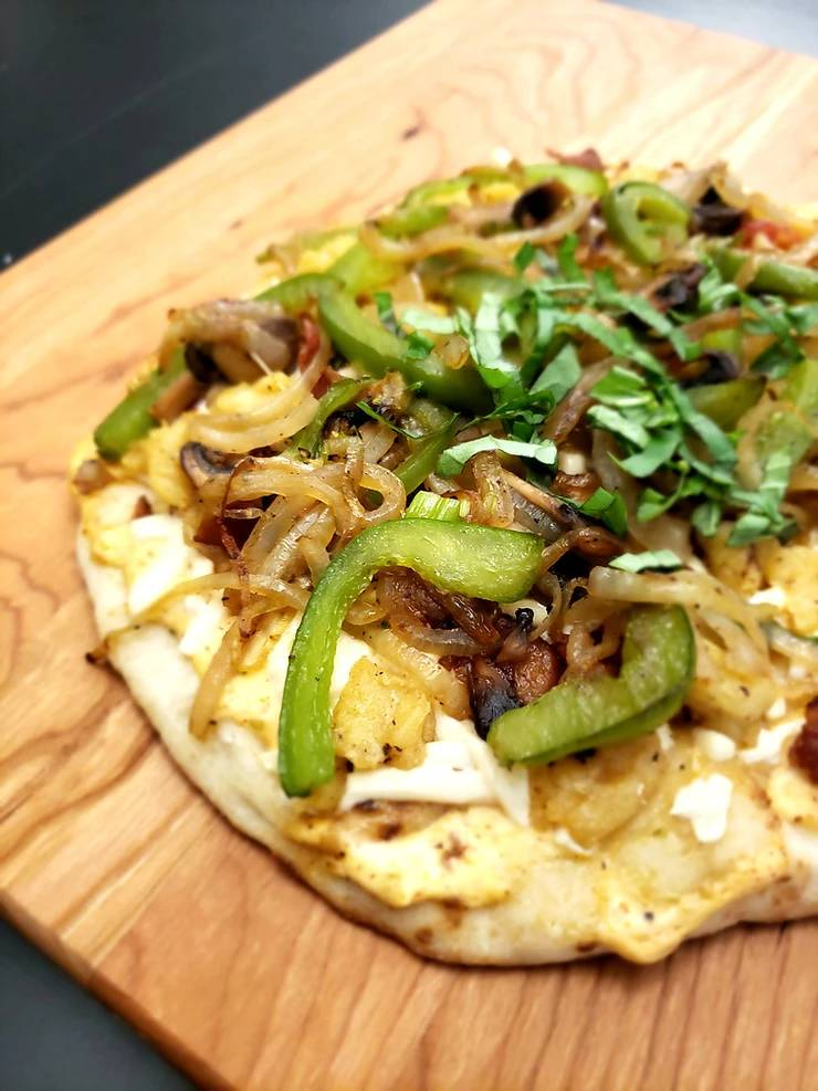 Egg Alternative Breakfast For Supper Pizza Egg Soy And