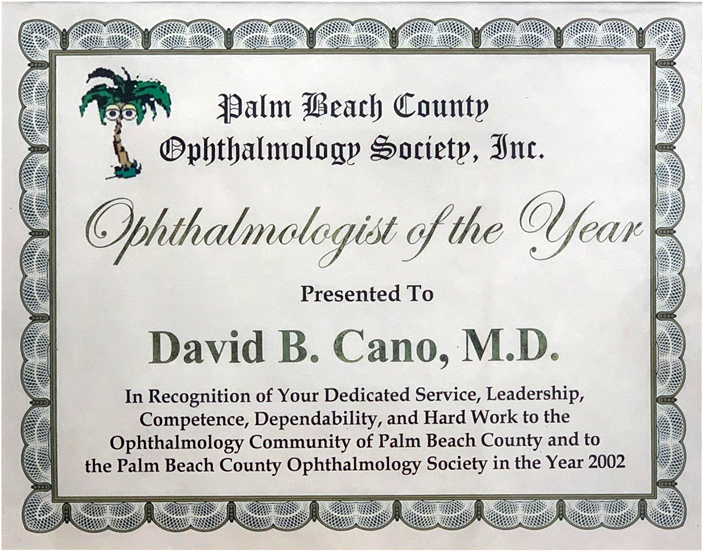 Ophthalmologist of the Year