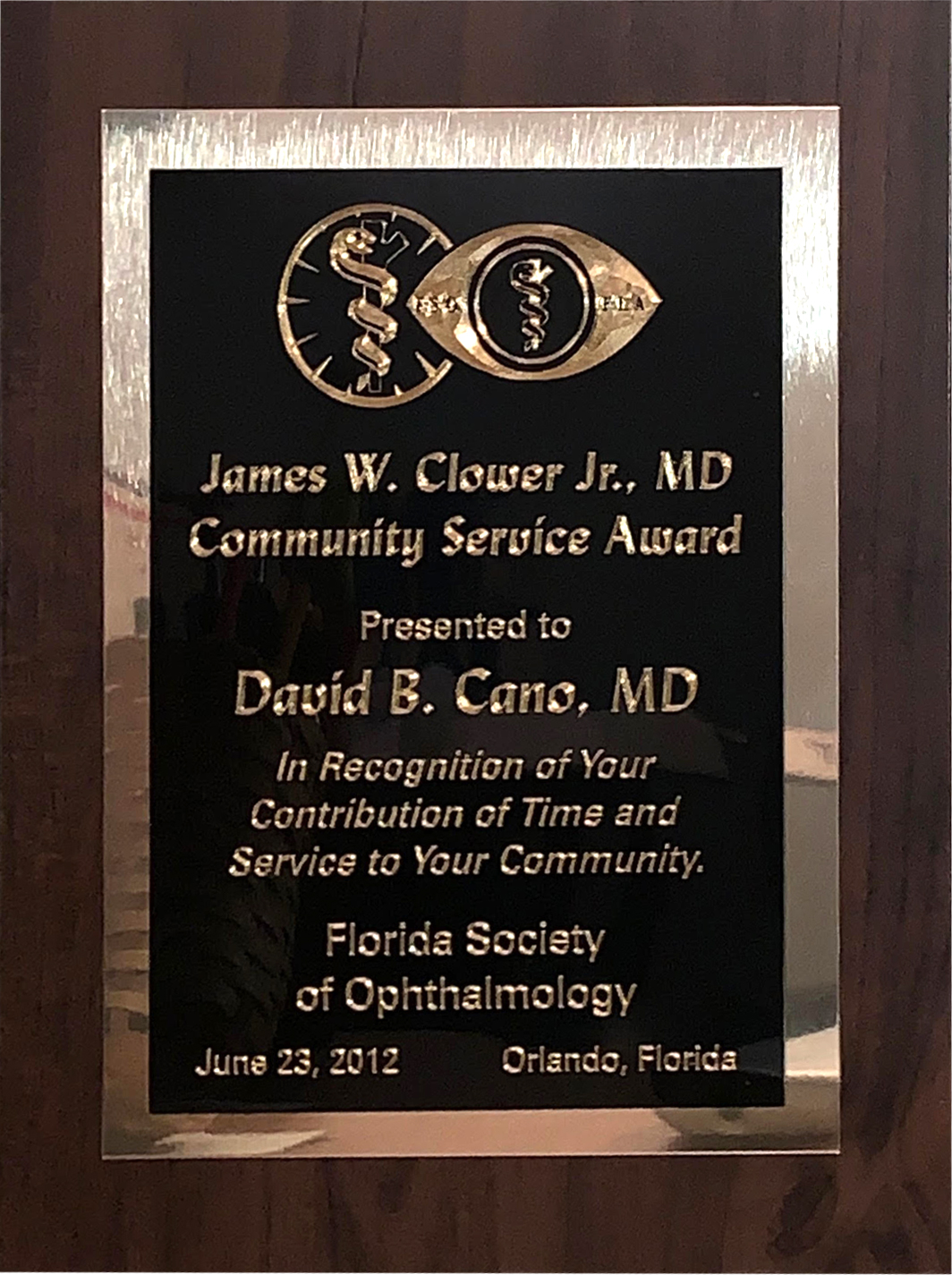 James W. Clower Jr., MD Community Service Award