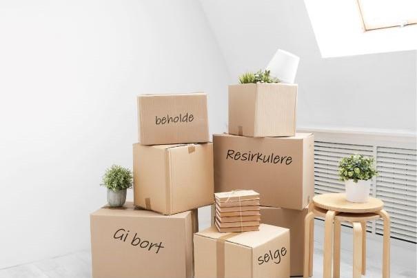 organiser esker pakking