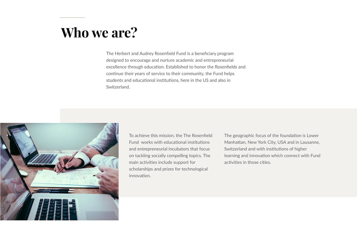 Who We are Webflow