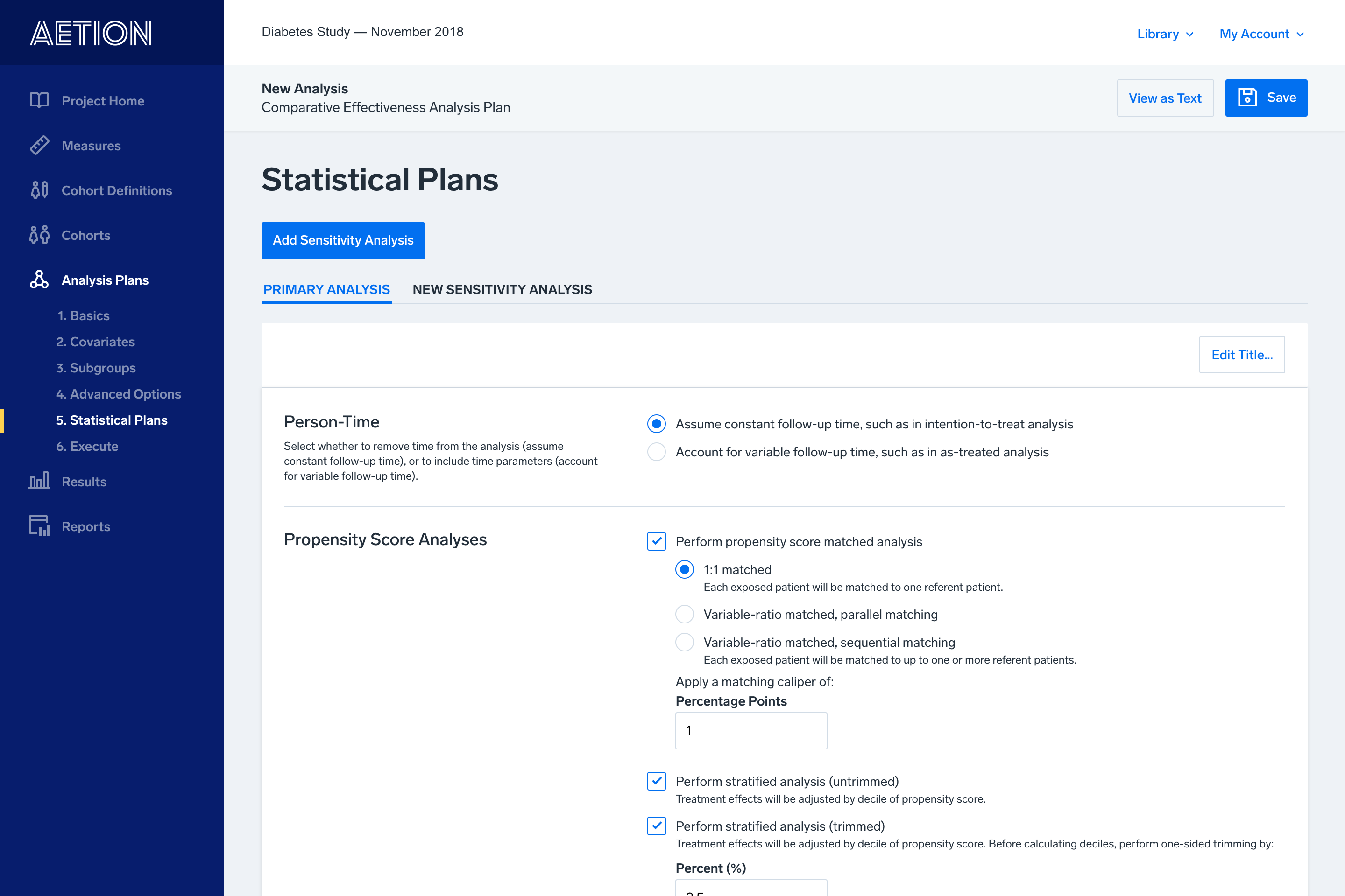Statistical Plans