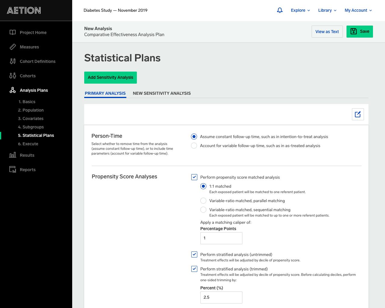 Statistical Plans