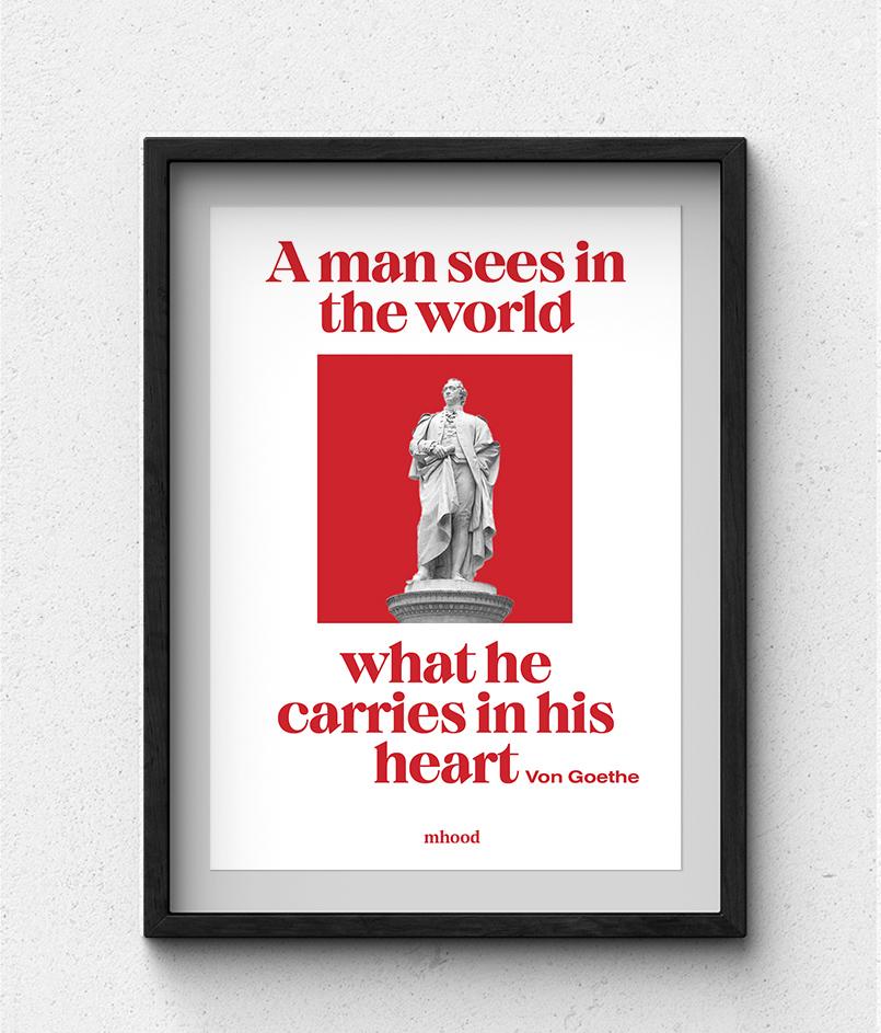 Framed poster from Mhood Design