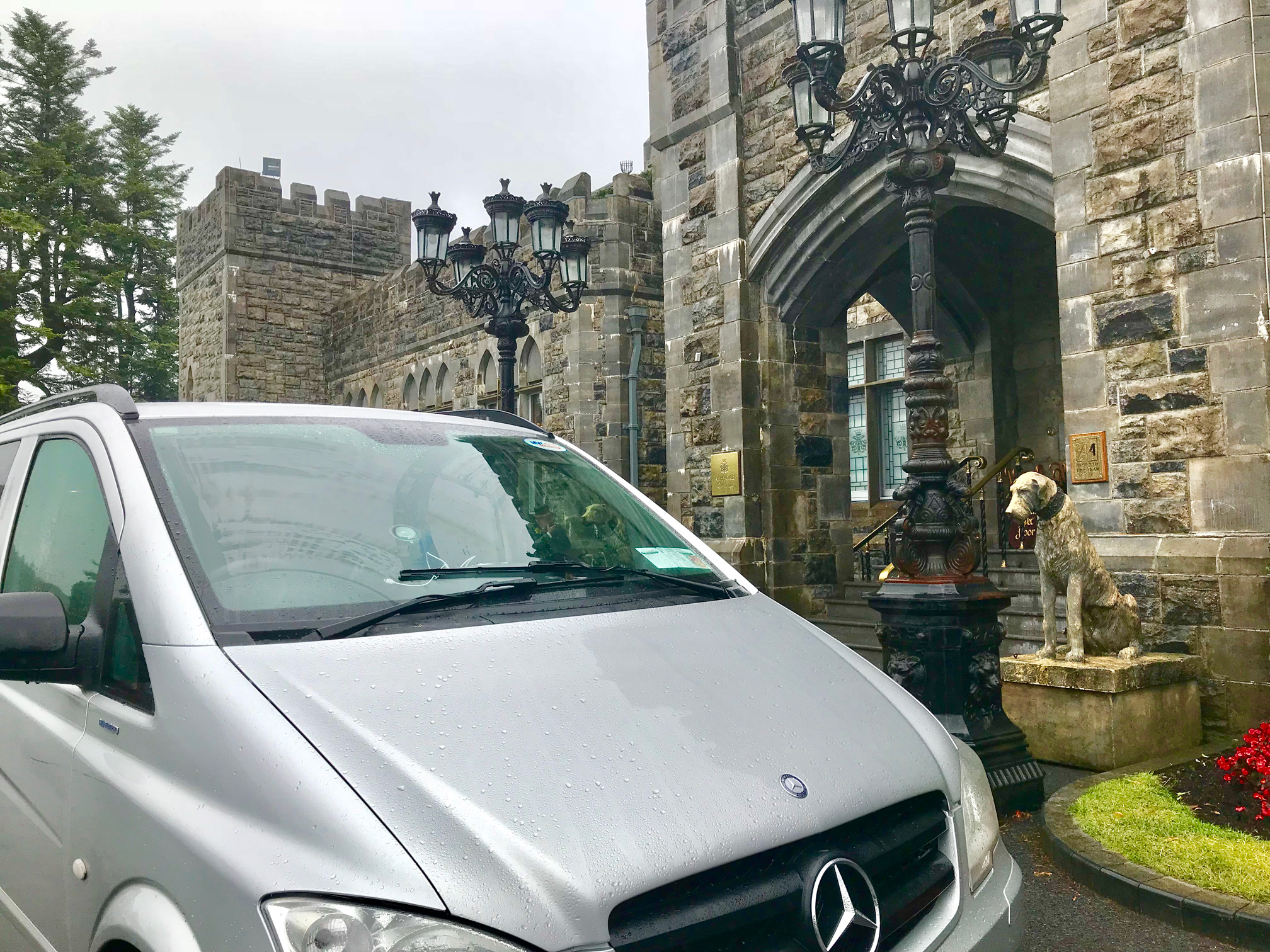 An Essential Ireland Castles and Classics Tour arriving at Ashford Castle