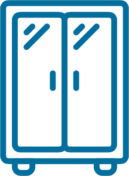 Display cabinet pictogram