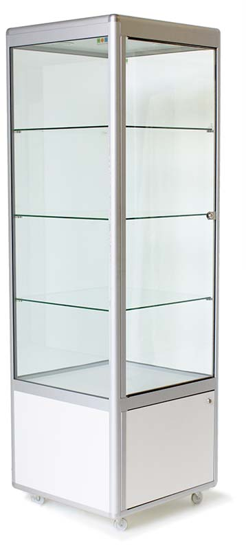 Square upright display cabinet