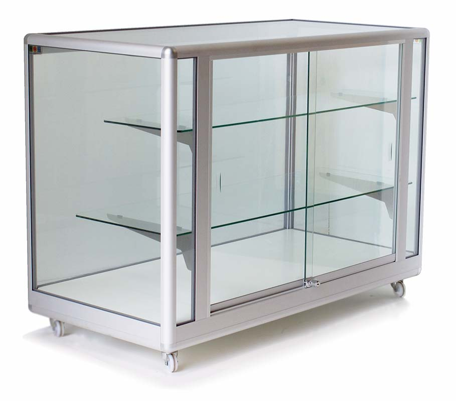 Full glass display cabinet