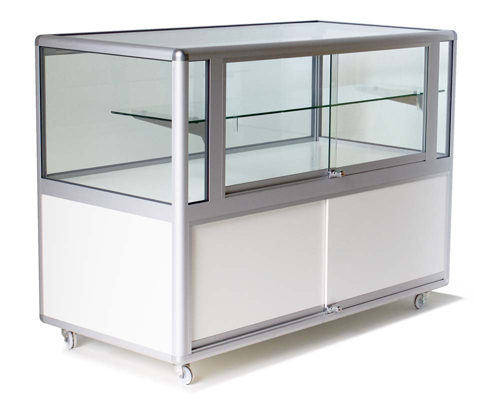 Half glass display cabinet