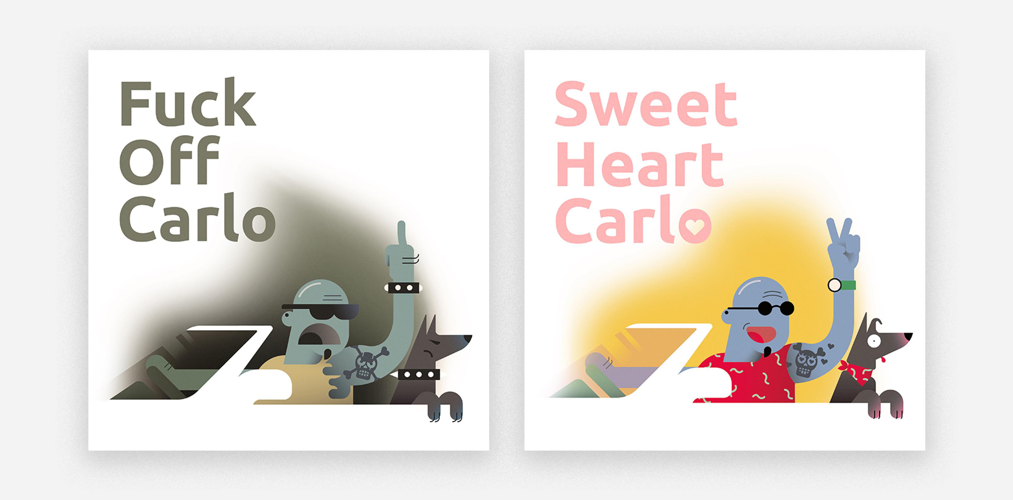 illustration carlo hard and sweet