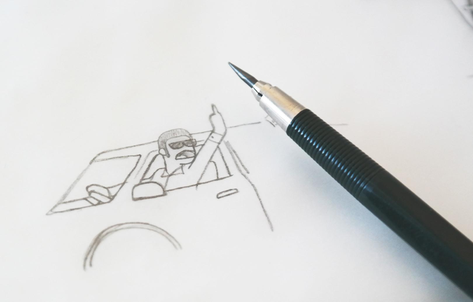 illustration middle finger