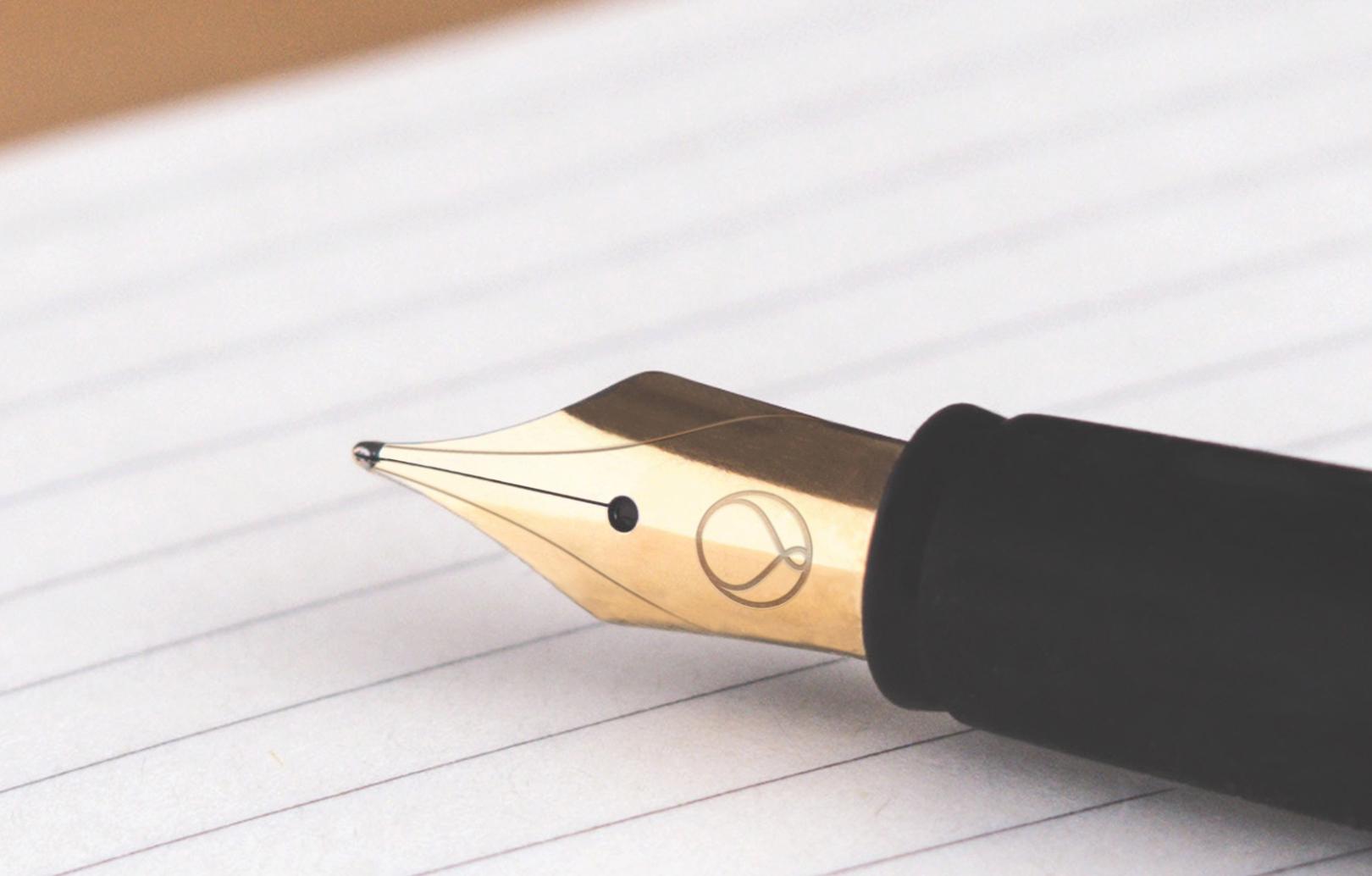 Logo on a pen