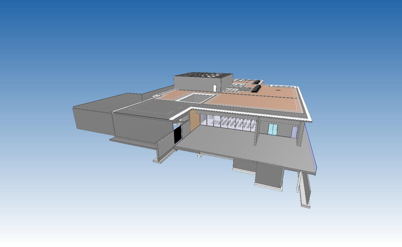 Maquette numérique du crématorium
