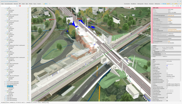 Figure 5: Integration of geospatial and construction models in a common data environment (CDE). (Courtesy: Korfin)