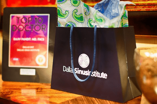 Dallas ENT and Sinus Institute Gift Bag