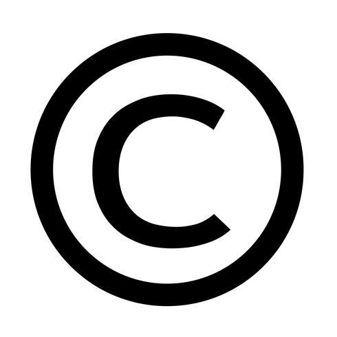 ícone de símbolo de direitos autorais ilustração vetorial ...