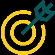 A illustration of a arrow hitting a target.