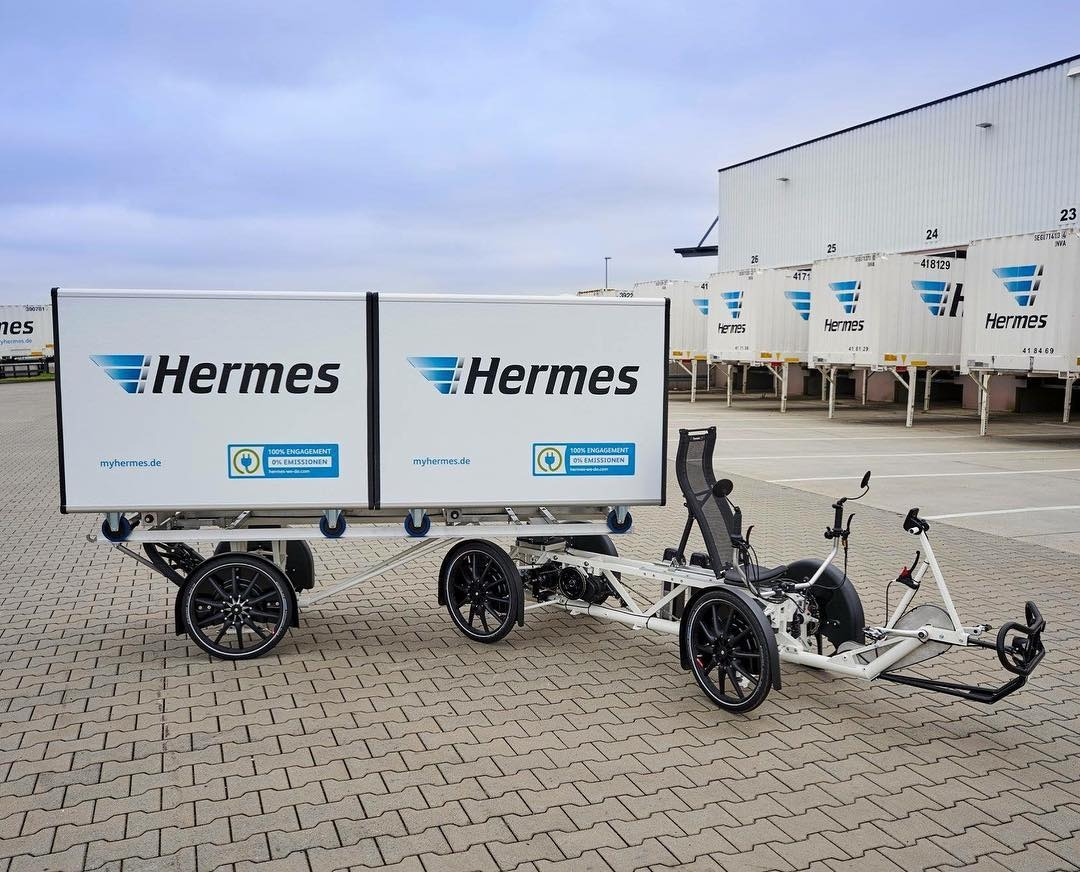 Hermes Electric Cargo bike for last mile delivery - A last mile solution