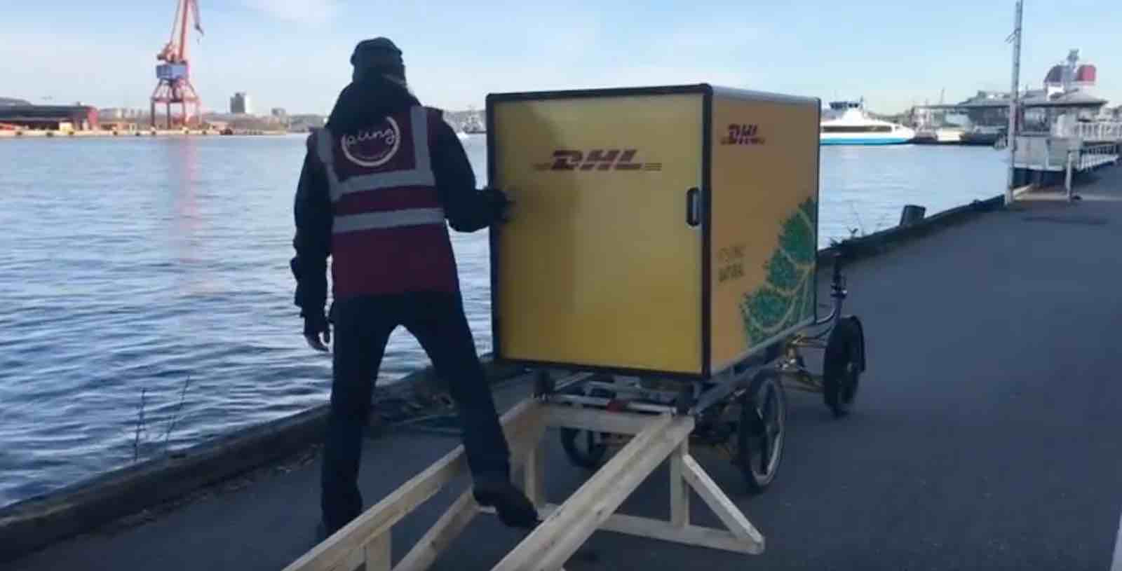 DHL Electric Cargo bike for last mile delivery - A last mile solution