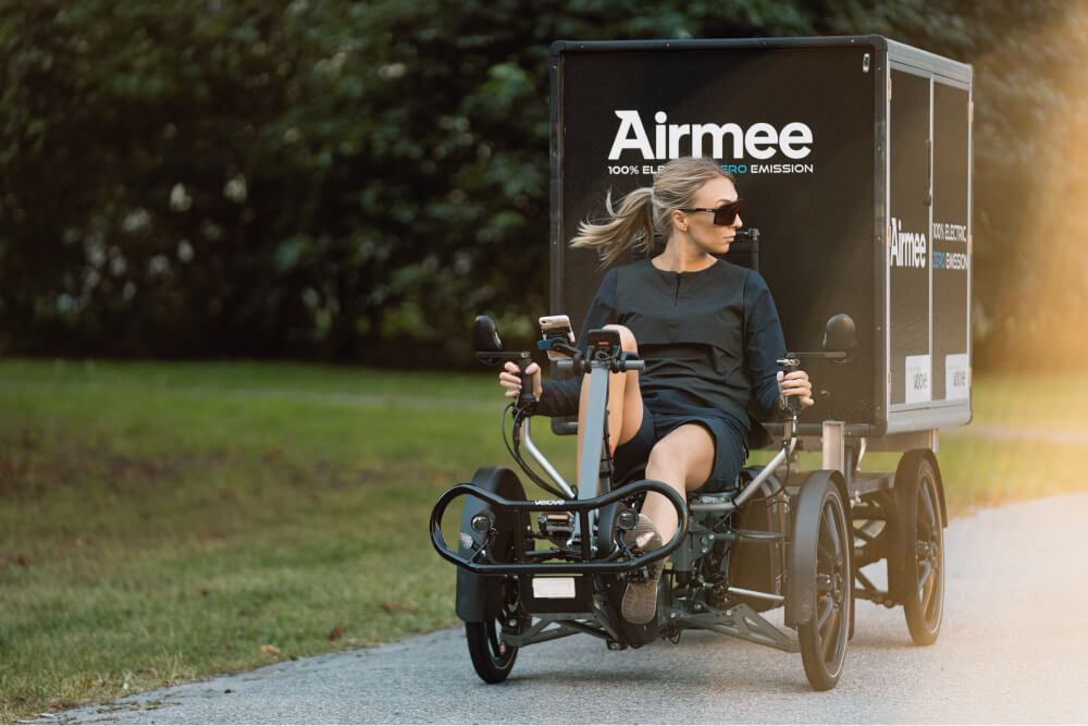 Airmee Electric Cargo bike for last mile delivery - A last mile solution