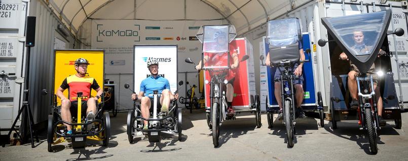 Berlin KoMoDo project electric cargo bike last mile solution