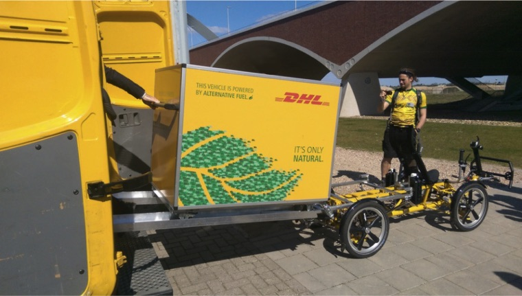DHL Container Logistic solution electric cargo bike last mile