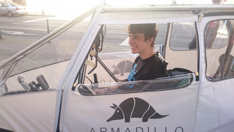 The Armadillo electric cargo bike takes a 500 km trip from Holland to Germany.