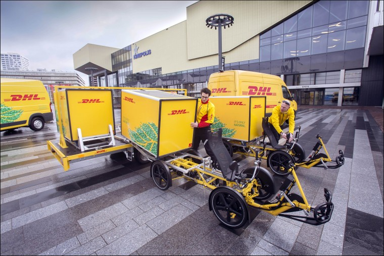 DHL Express using Armadillo electric cargo bikes