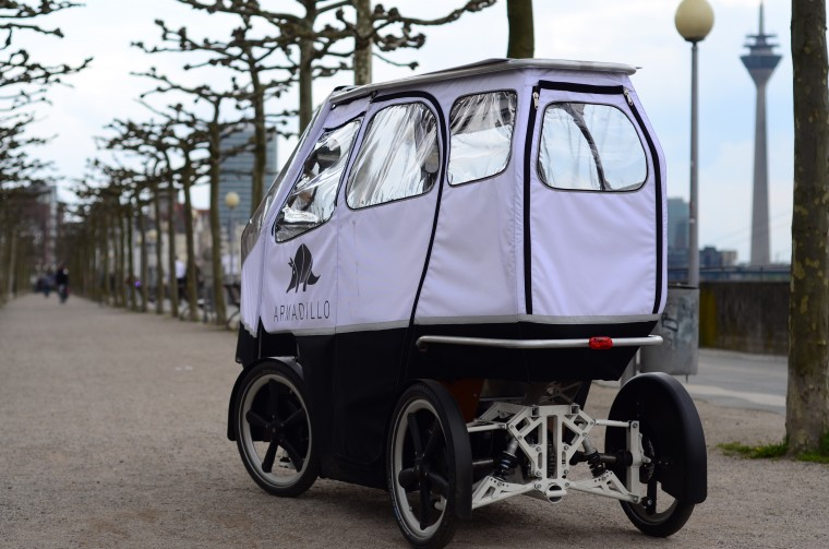 Armadillo Two-seater electric cargo bike solution for last mile transportation