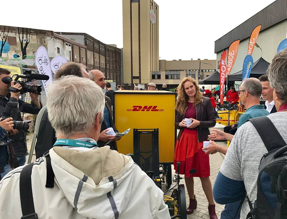 Harriet Tiemens DHL Express electric cargo bike last mile