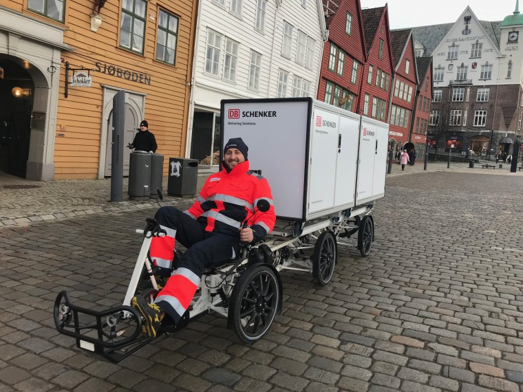 DB Schenker Velove Electric cargo bike Norway