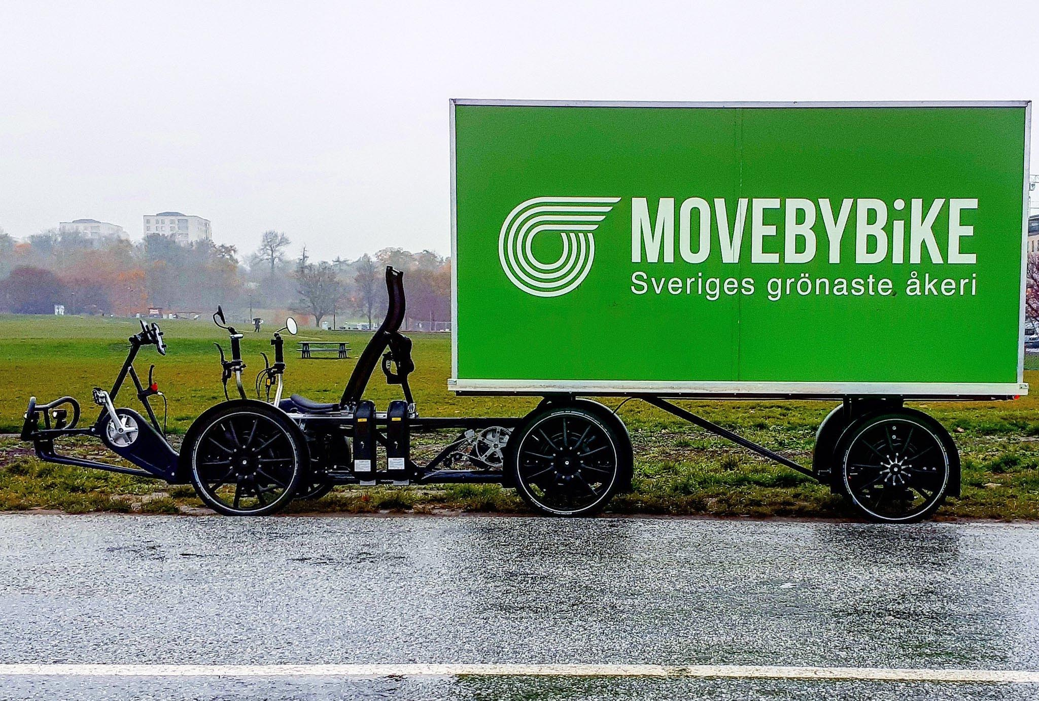 Velove Armadillo Electric Cargo Bike with Semi-Trailer - Leasing