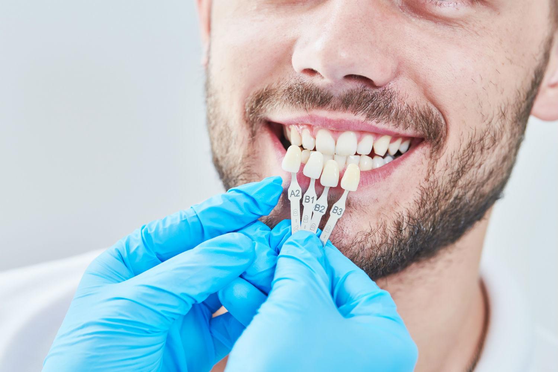 patient having teeth extracted