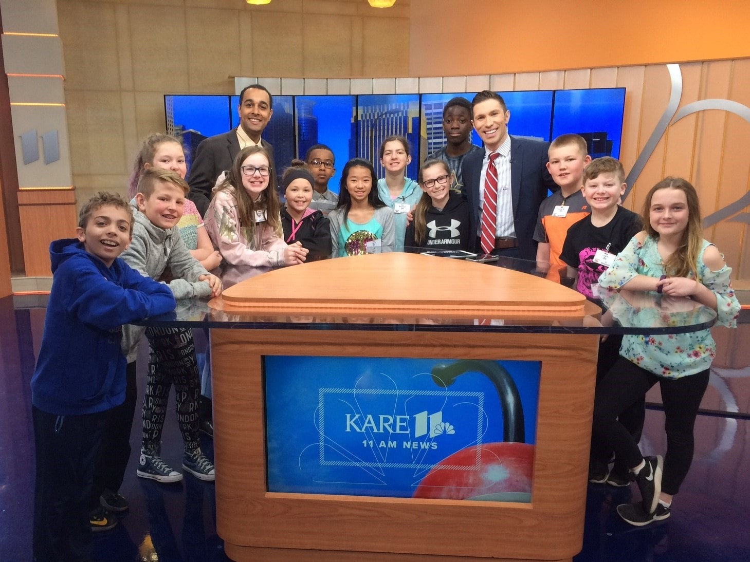 field trip to a local news station