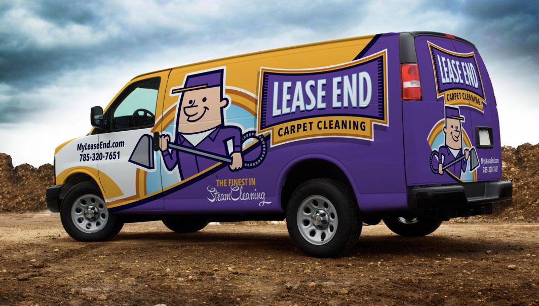 Lease End Carpet Cleaning Van