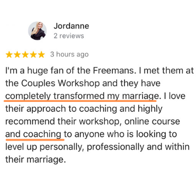 Jordanne testimony says they helped completely transform my marriage.