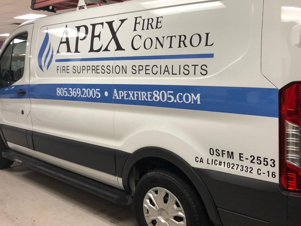 Apex fire control van wrap