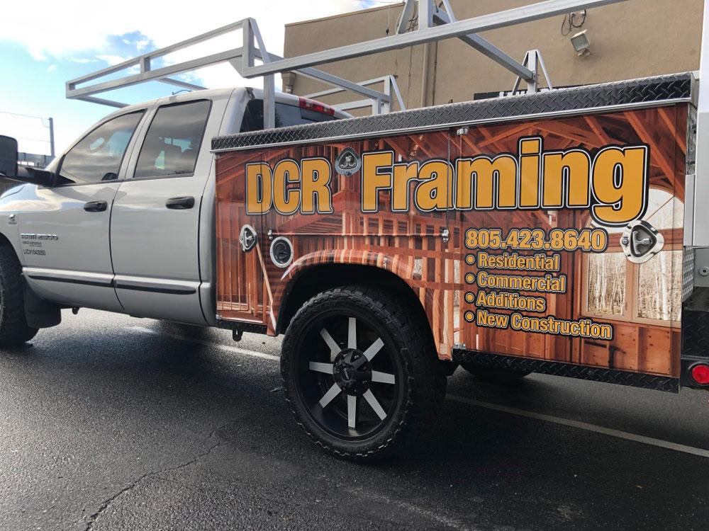 DCR Framing truck Wrap